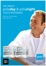 pola tooth whitening poster